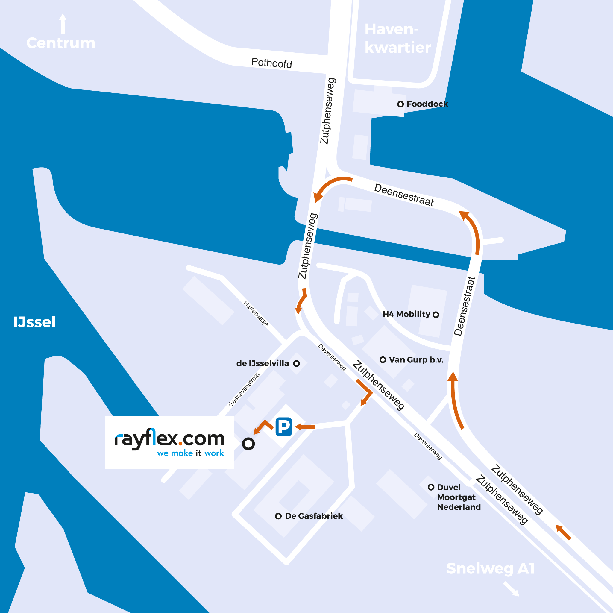 RayFlexCom - Routebschrijving